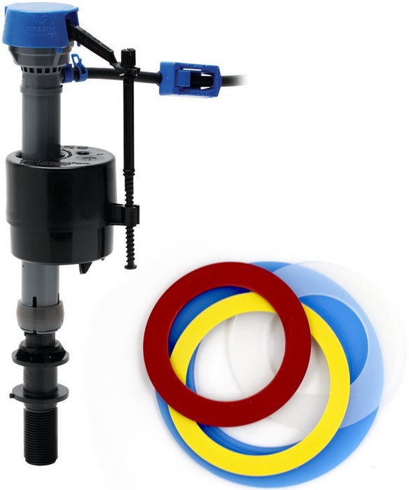 Fluidmaster 400CARSP5 Toilet Fill Valve & Flush Seal Kit, Plastic
