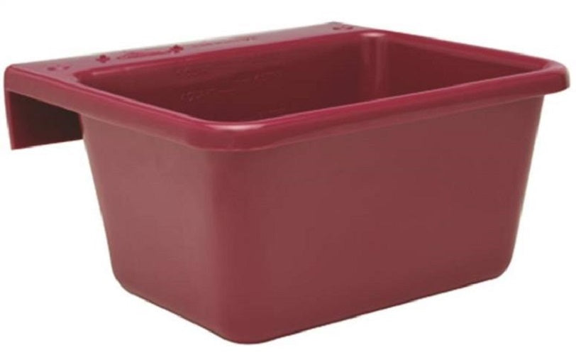Fortex/Fortiflex 1306613 Small Over The Fence Feeder, 5 Qt, Burgundy