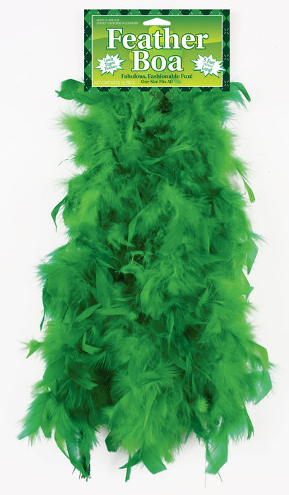 Fun World 5354 5-Foot Feather Boa, Green