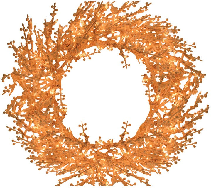 GE 21332 Lighted White Berry Christmas Wreath, 30