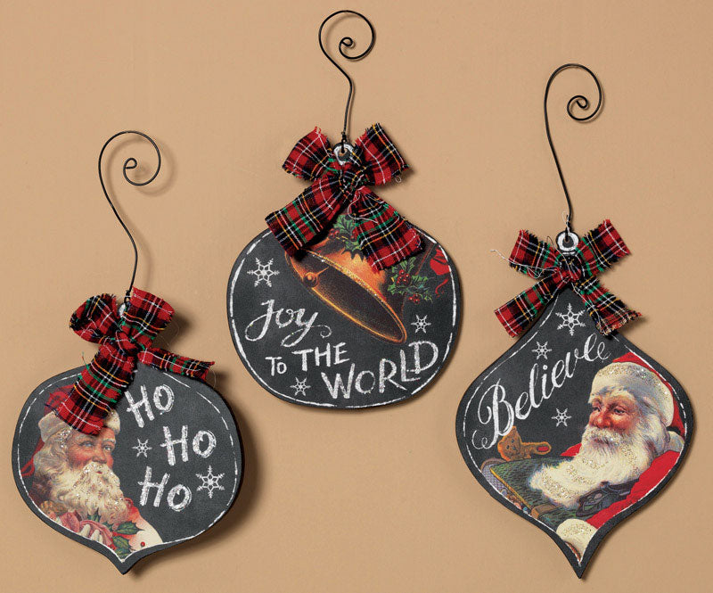 Gerson 2225700 Christmas Ornament Wall Decor Wood Sign, 10-1/2