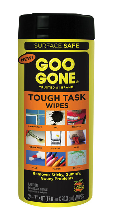 Goo Gone 2000 Tough Task Wipes, 24 count