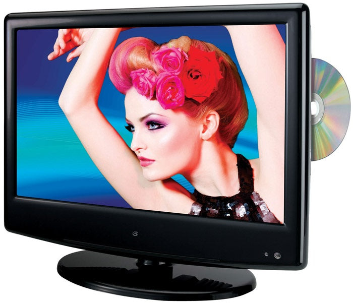 GPX TDE1384B Color LED TV & DVD Combination, 13.3