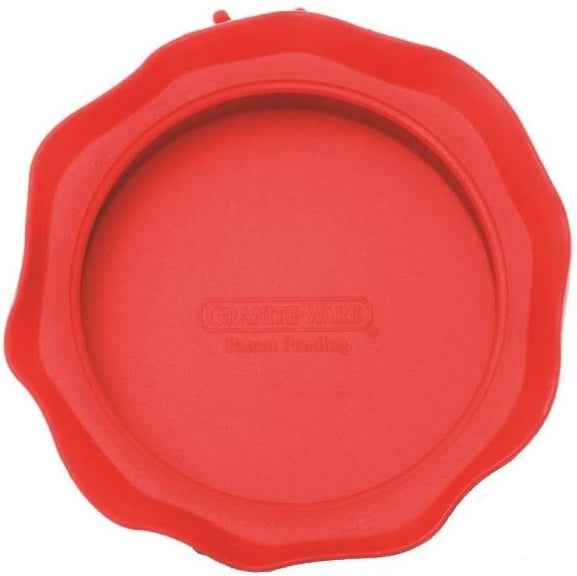 GraniteWare F0725-4 Wid Mouth Jar Topper, Red