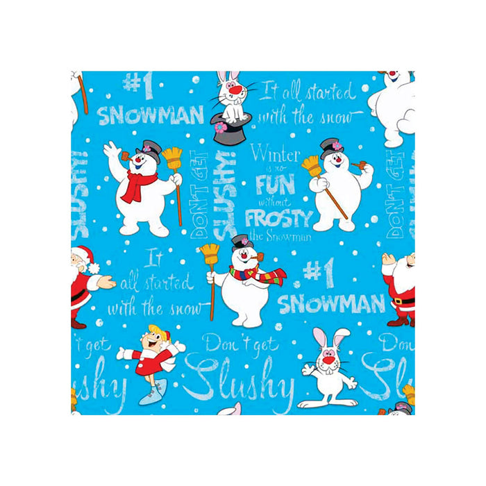 Hallmark 0999XLR2047 Christmas Frosty The Snowman Gift Wrap, Paper, Multi-Color