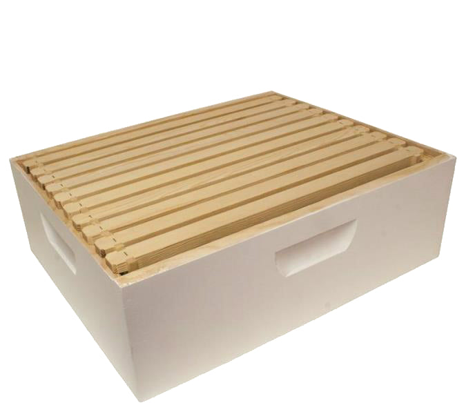 Harvest Lane Honey WWBCM-102 Medium Honey Super Box with 10 Frames & Foundations