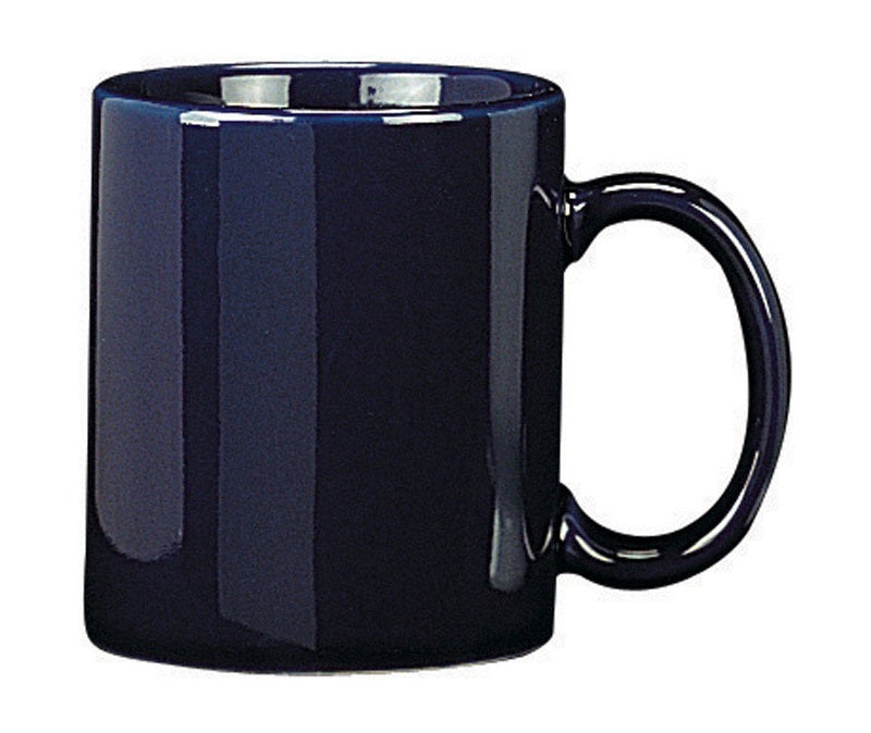 HIC 90008 Mug, Porcelain, Blue, 9 Oz