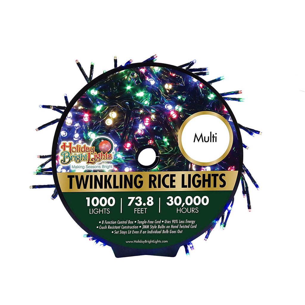 Twinkling Cluster Rice Christmas Light Set Shop Holiday