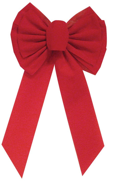 Holiday Trims 7358 Velvet Bow, Red, 10