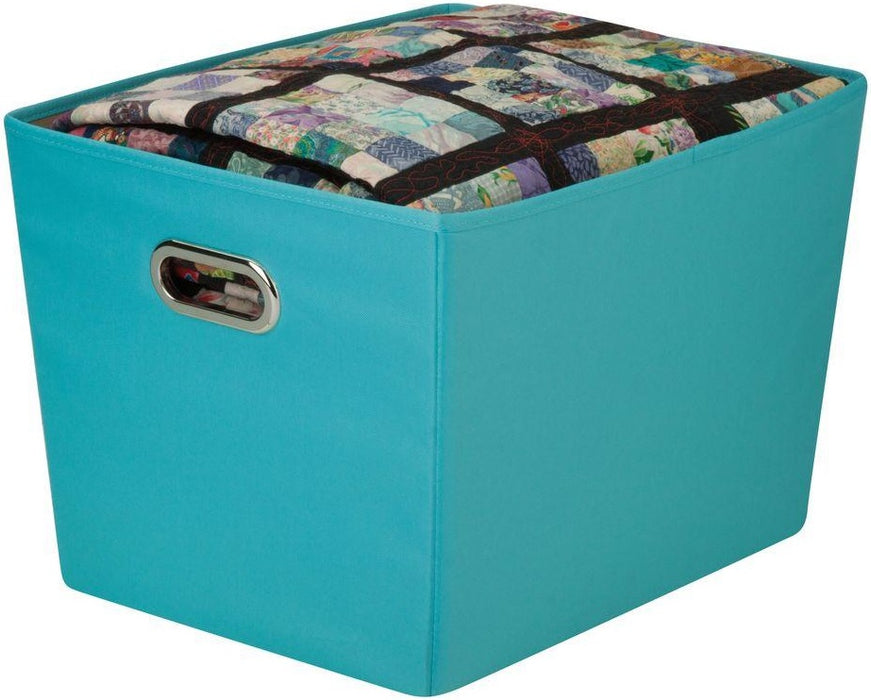 Honey-Can-Do SFT-01994 Storage Bin With Handles, Blue