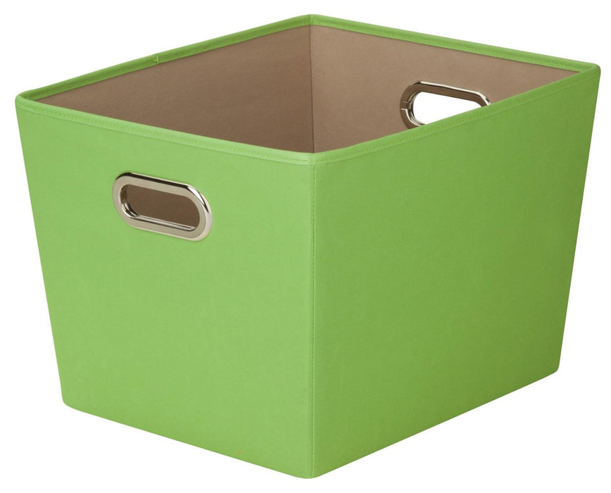 Honey Can Do SFT-03075 Decorative Storage Bin, Medium, Green