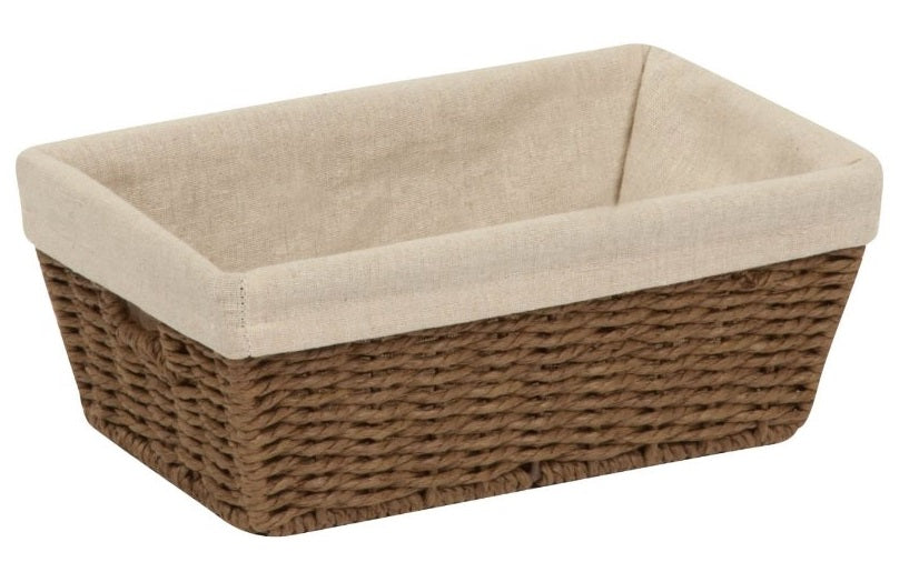 Honey Can Do STO-03563 Parchment Cord Basket, Brown, small