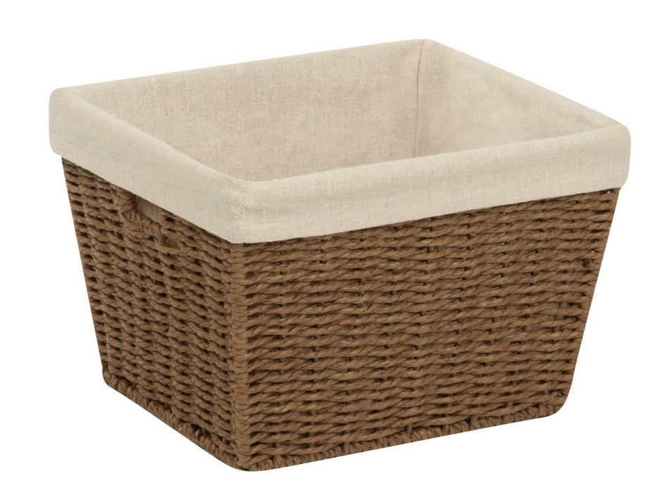 Honey Can Do STO-03565 Parchment Cord Basket, Brown, medium