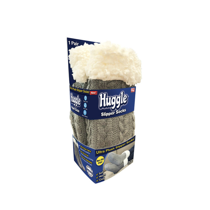 Huggle HHSOCK-MC12/6 As Seen On TV Slipper Socks, 1 Pair