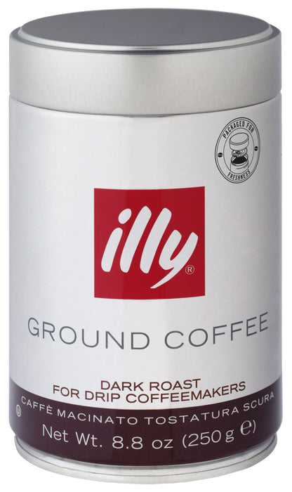 illy EC90 Medium Grind Dark Roast Ground Coffee, 8.8 Oz