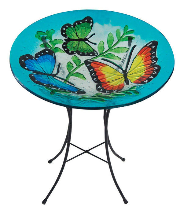 Infinity 14LG051201A Fusion Glass Bird Bath, Assorted Designs/Color
