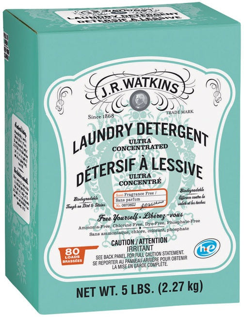 J.R. Watkins 06738 High Efficiency Powder Laundry Detergent, 5 Lbs