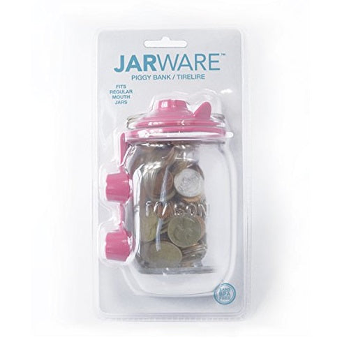 Jarware 82600 Piggy Bank Decorative Jar Lid, Regular Mouth