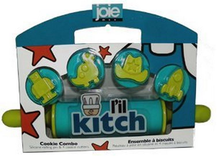 Joie MSC 18666 L'il Kitch Rolling Pin & Cookie Cutter Combo