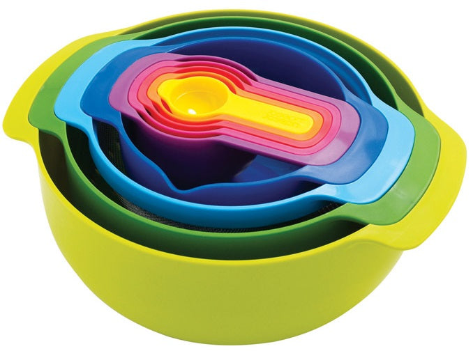 Joseph Joseph 40087 Polypropylene Mixing Bowl Set, 9 Pcs