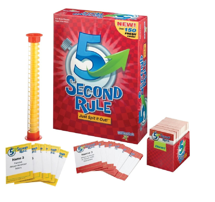 Playmonster 7434 5 Second Rule Family Game