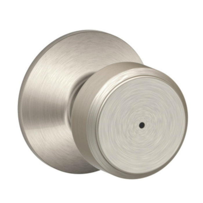 Schlage F40VBWE619 Bowery Bed and Bath Knob, Satin Nickel