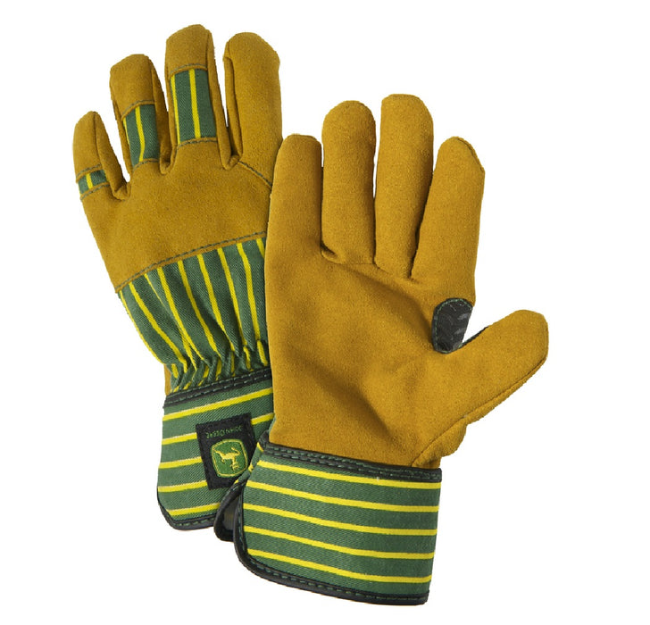 West Chester JD00024-Y John Deere Work Gloves, Green/Yellow