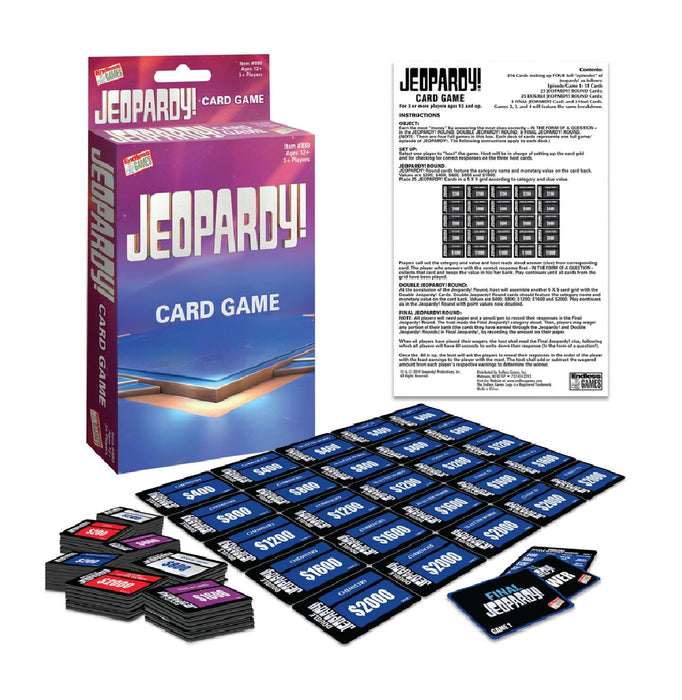 Endless Games 880 Jeopardy Card Game, Cardboard