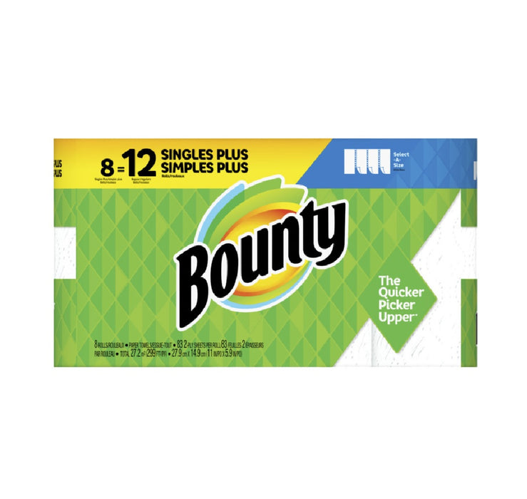 Bounty 74728 Select-A-Size Paper Towels, White