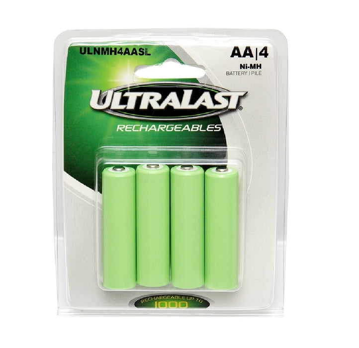 Ultralast ULNMH4AASL AA Solar Rechargeable Battery