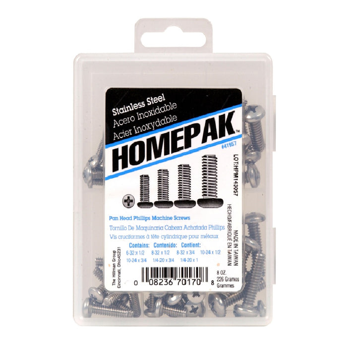 Homepak 41957 Phillips Pan Head Machine Screw Kit