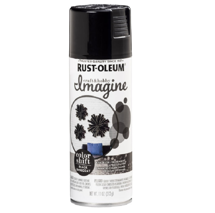 Rust-Oleum 345664 Shift Spray Paint, Black Basecoat