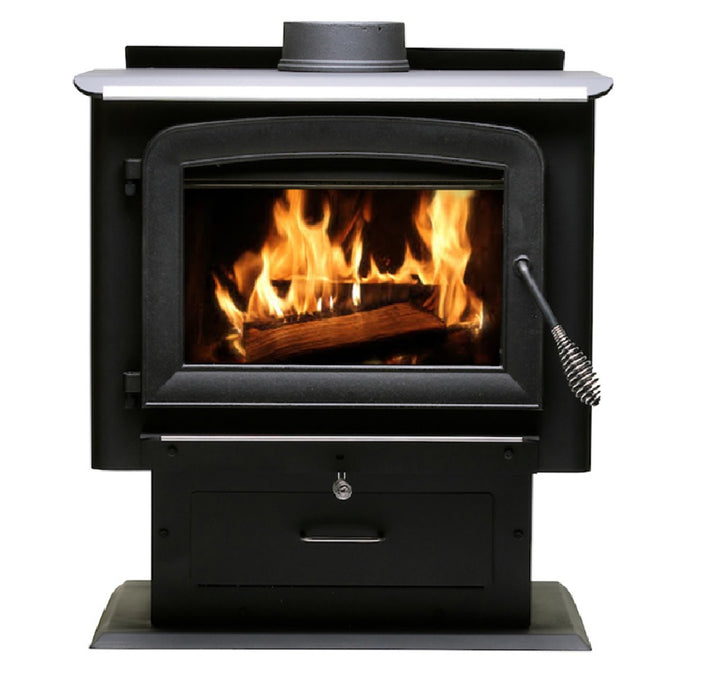US Stove AW2020E-P Ashley Hearth Wood Stove/Pedestal Stove
