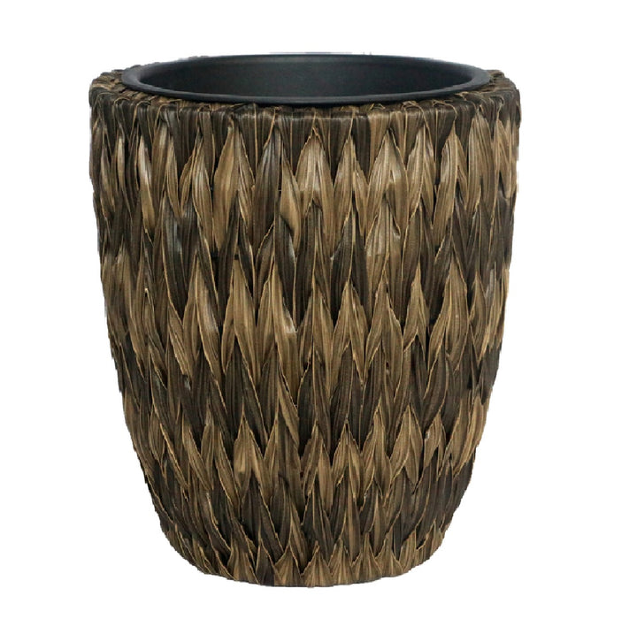 Infinity 21566A-L Twisted Banana Leaf Planter, Brown