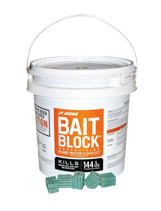 JT Eaton 709PN Bait Block Rodenticide Anticoagulant, 1 Oz, Green