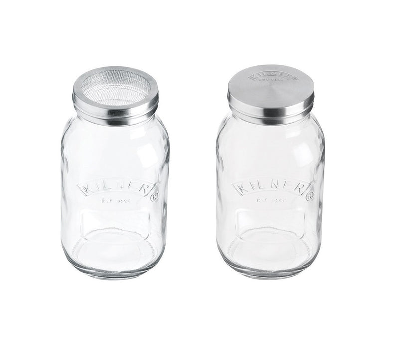 Kilner 0025.840 Sifter Jar, Glass, Clear, 34 Oz