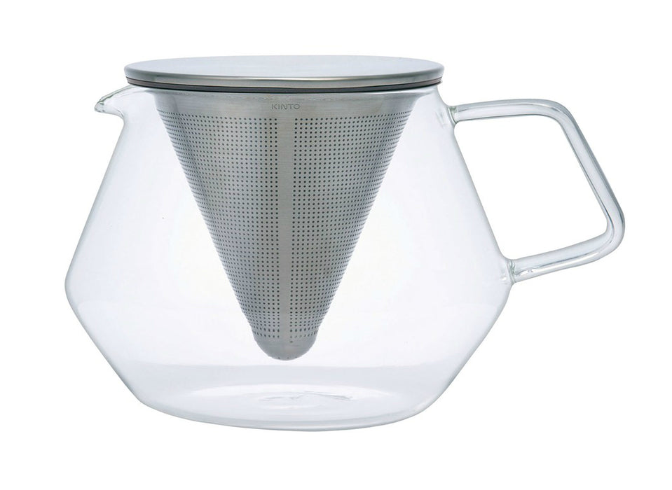 Kinto 21681 Carat Glass Teapot Infuser with Stainless Steel Lid, 29 Oz