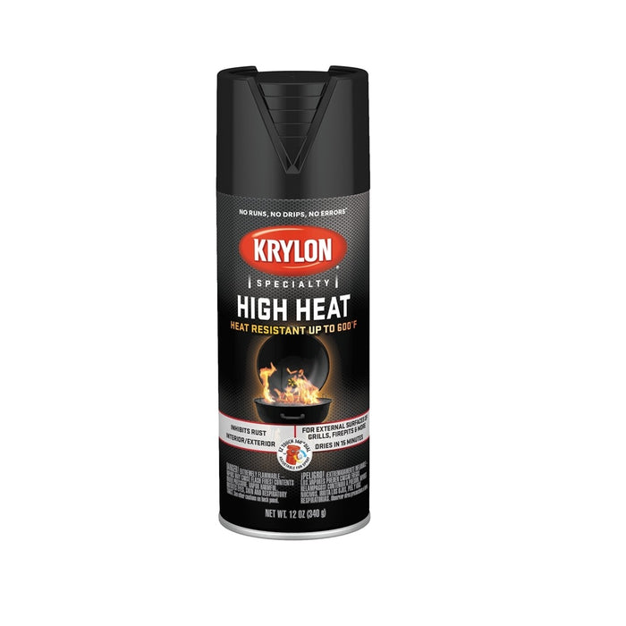 Krylon K01618777 High Heat Spray Paint, 12 Oz