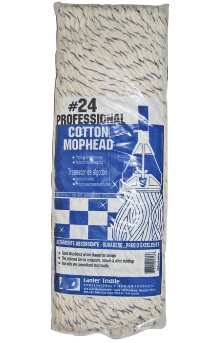 Lanier 105-4PLY-#24 #24-Professional Cotton Mop Head