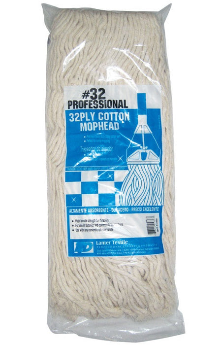 Lanier 109-32PLY-#32 32-Ply Cotton Mop Head