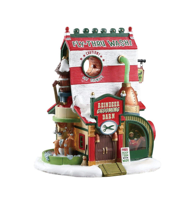 Lemax 75293 Reindeer Grooming Barn Christmas Village Building, Multicolored