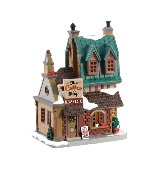 Lemax 85380 The Coffee Shop Christmas Village Building, Multicolored