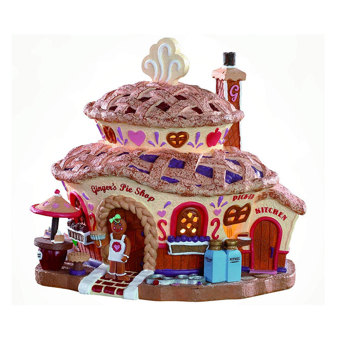 Lemax 85437 Ginger's Pie Shop Tabletop Christmas Decoration, Multicolored