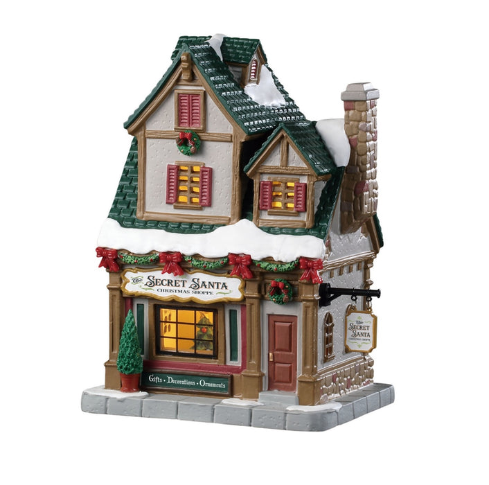 Lemax 95512 The Secret Santa Christmas Shoppe, Multicolored