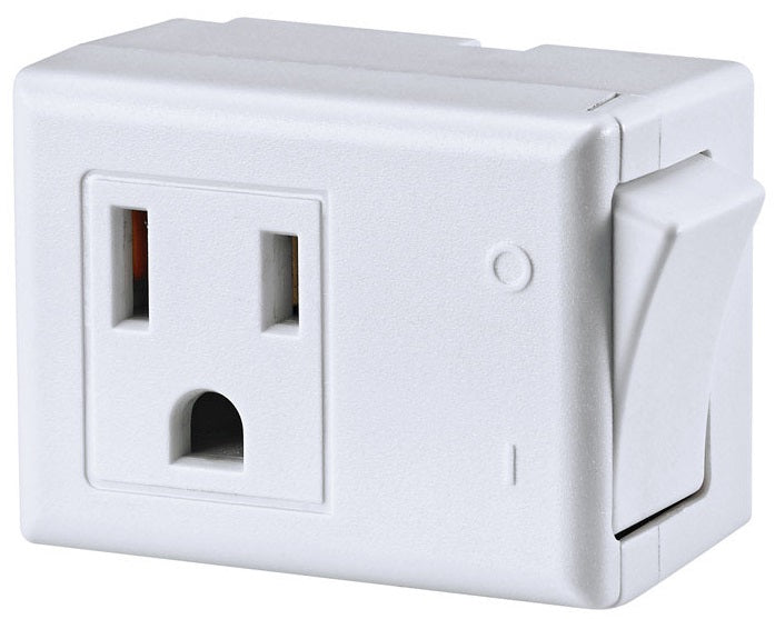 Leviton C22-01470-00W 3-Wire Grounded Switch Tap, White