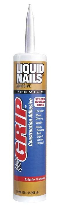 Liquid Nails LN-990 10 Ultra Quick Grip Construction Adhesive, 10 Oz