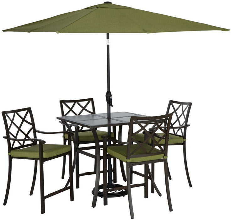 Living Accents 724.019.001 Hayward Dining Set, Brown