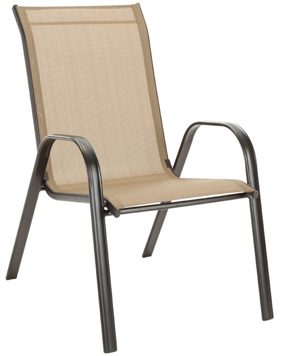 Stacking Sling Chair, Tan, low price, outdoor living items ...