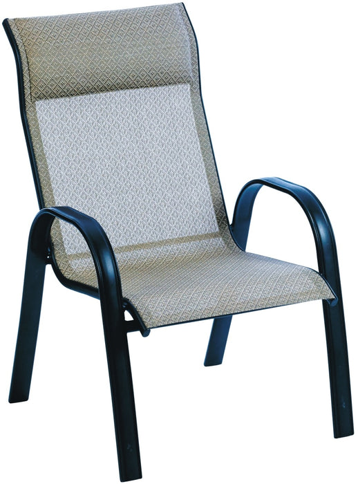 Stationary Stacking Sling Chair With Padded Headrest Low