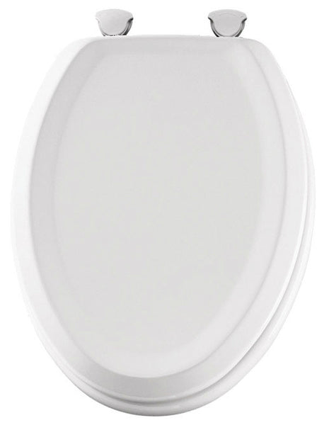 Swell Mayfair 125Ec 000 Traditional Sculptured Elongated Wood Toilet Seat White Machost Co Dining Chair Design Ideas Machostcouk